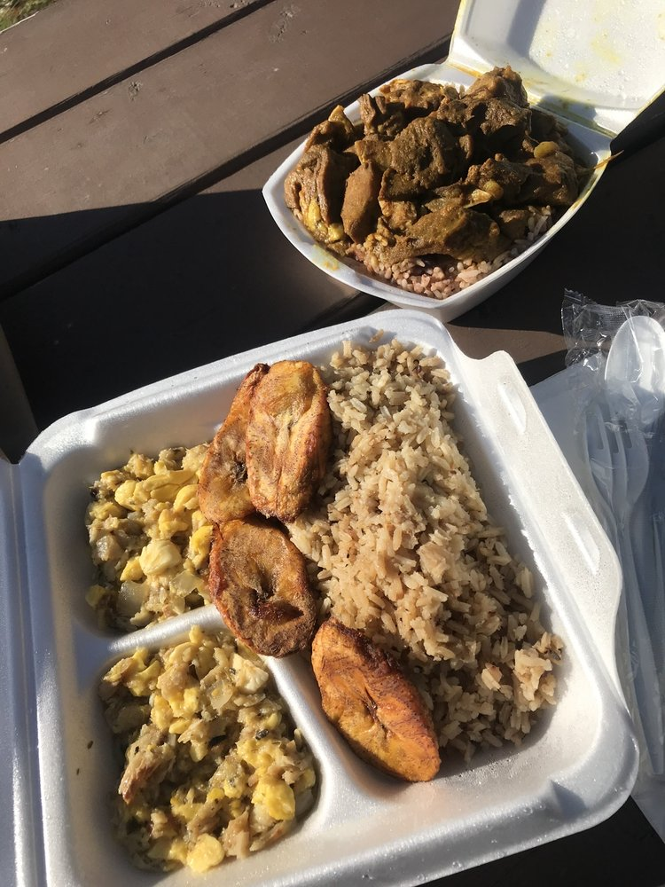Food from D&G Jamaican Restaurant