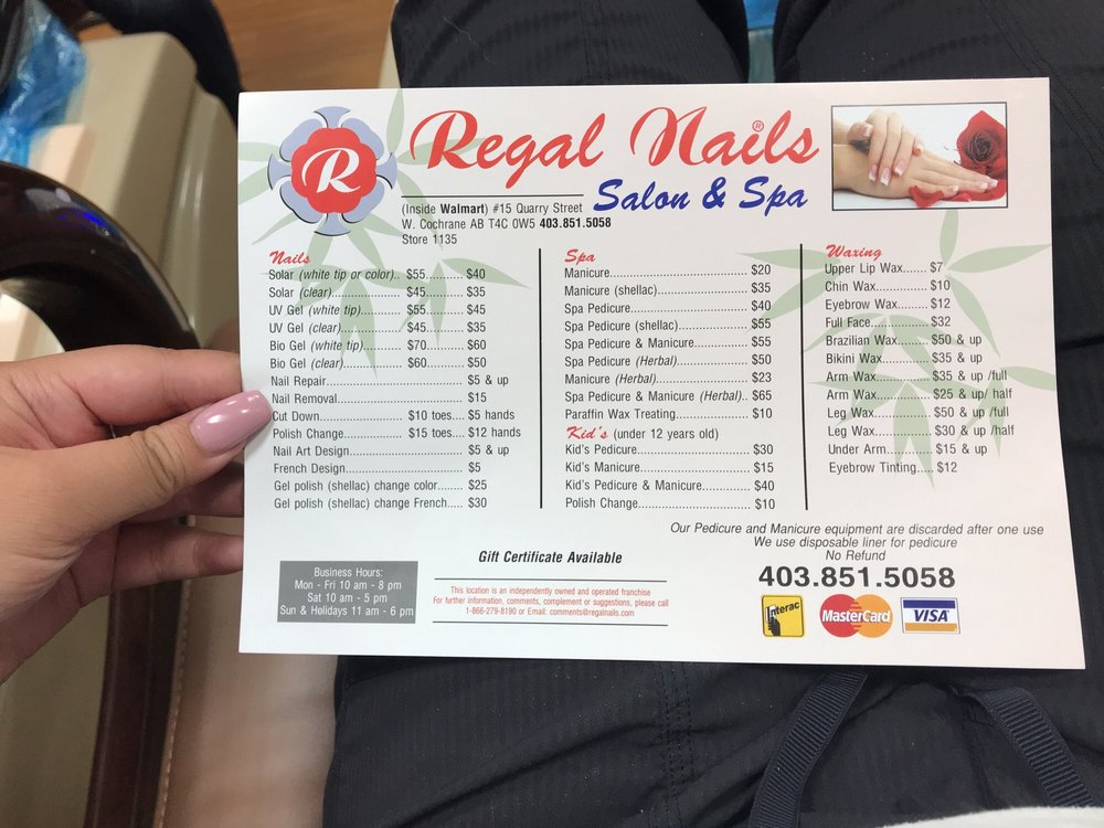 Regal Nails In Walmart Gift Card