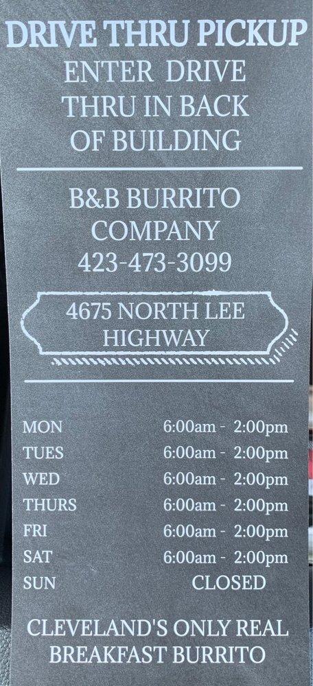 B&B Burrito: 4675 N Lee Hwy, Cleveland, TN