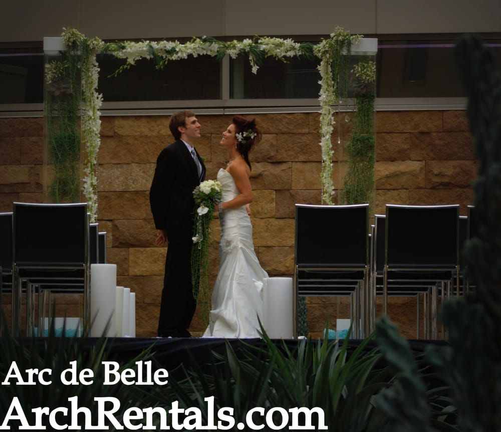 Modern Wedding Altar: Modern Wedding Shoot At W Hotel,Scottsdale. Acrylic,Lucite