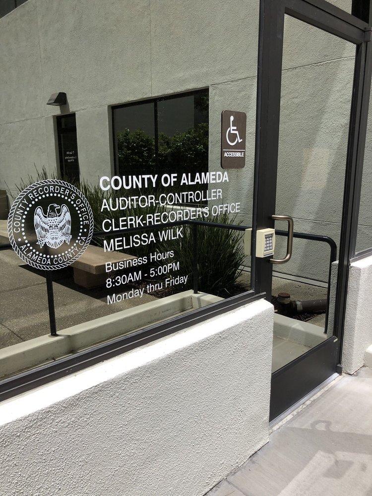 Alameda County Clerk-Recorder - Dublin Satellite Office | 7600 Dublin Blvd, Dublin, CA, 94568 | +1 (510) 272-6362