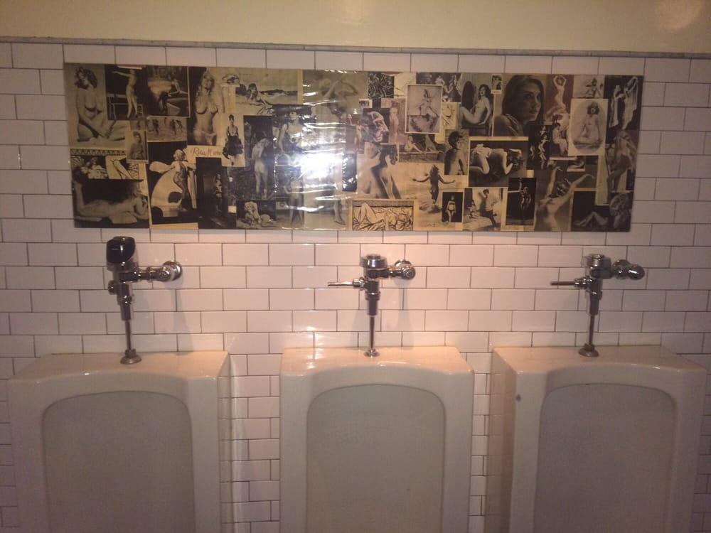 Pictures of naked antique French ladies over the urinals. - Yelp