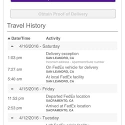 Fedex ground shipping tracking not updating