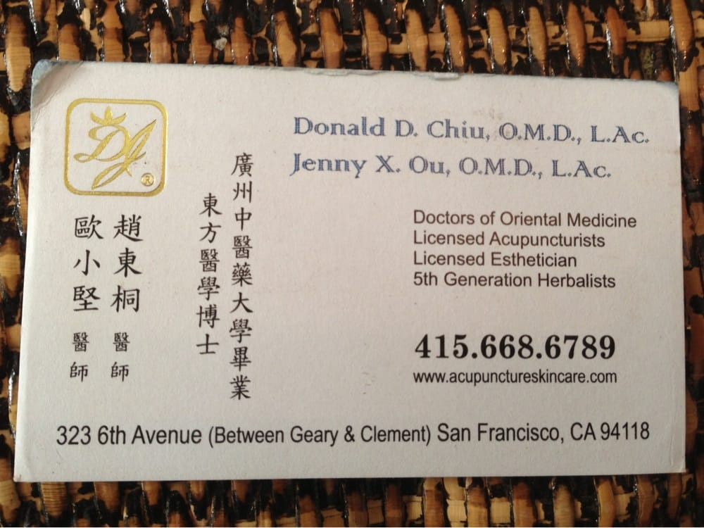 Jenny X Ou, O.M.D., L.Ac.: San Francisco, CA