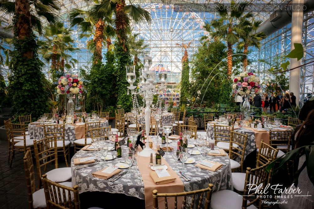 Magnificent Wedding Reception Decor At The Crystal Room Navy Pier