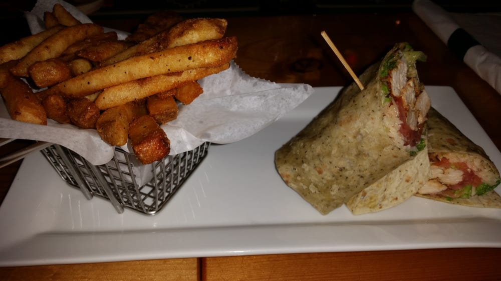 Chicken Caesar Wrap Lightly Blackened With Fries Yelp