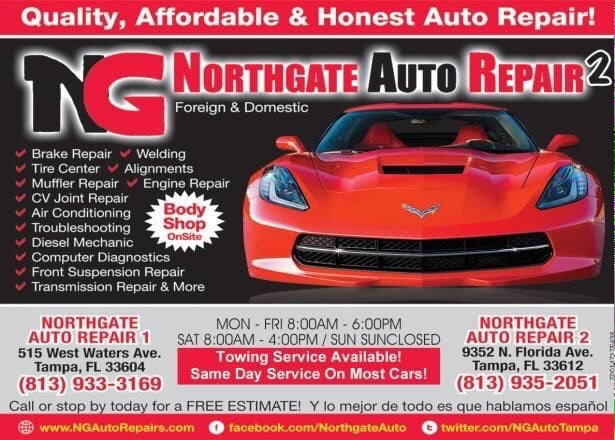 Come and get your a c checked northgate auto we count for Select motors of tampa