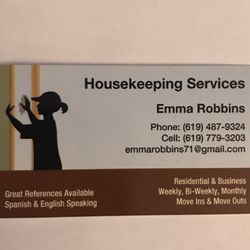 Emmas professional cleaning services get quote home cleaning photo of emmas professional cleaning services san diego ca united states our our personal business cards reheart Image collections