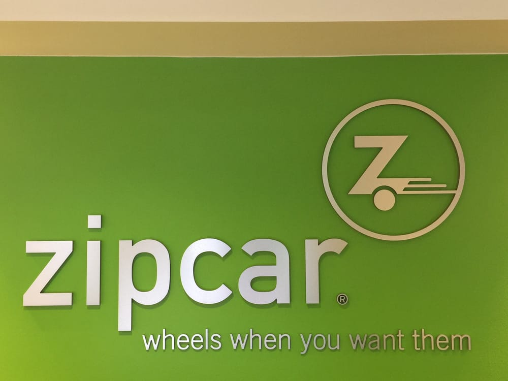 Zipcar Logo With The Famous Zipcar Green Background Yelp