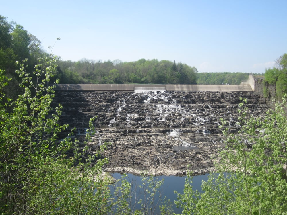 The man made dam of the Tohickon Creek which created Lake