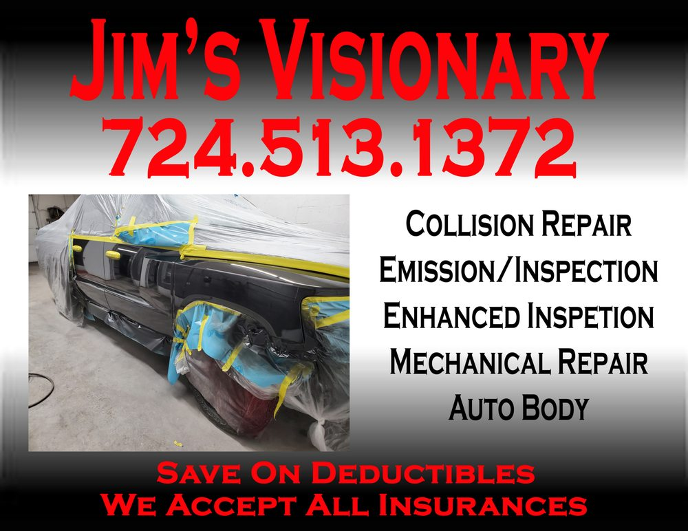 Jim's Visionary Auto Body: 1928 8th Ave, Beaver Falls, PA