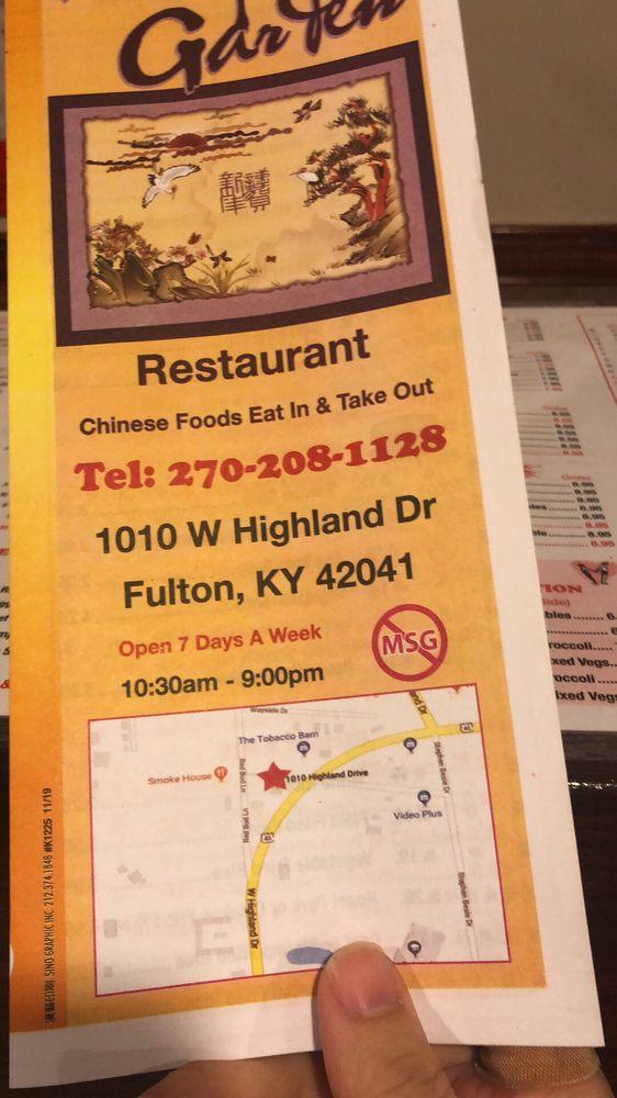King Garden: 1010 W Highland Dr, Fulton, KY