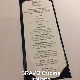 Bravo Cucina Italiana Drink Menu