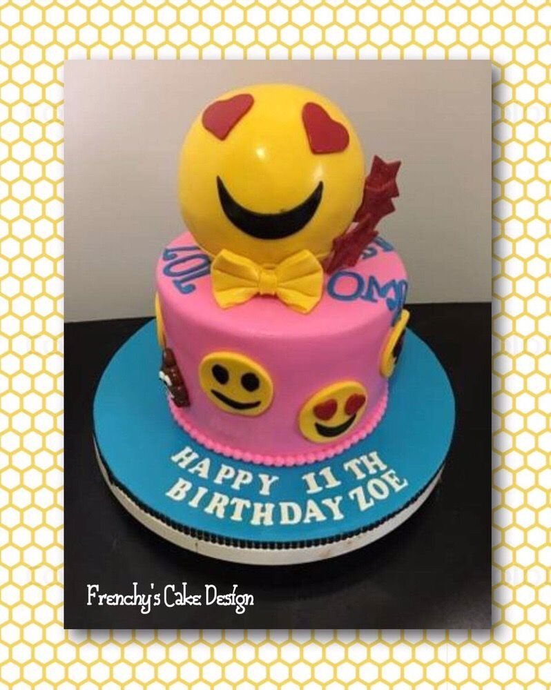 Emojis Cake And Yes That Ball Is Cake Too Yelp