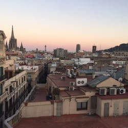 photo of ohla terraza chill out barcelona spain great rooftop bar