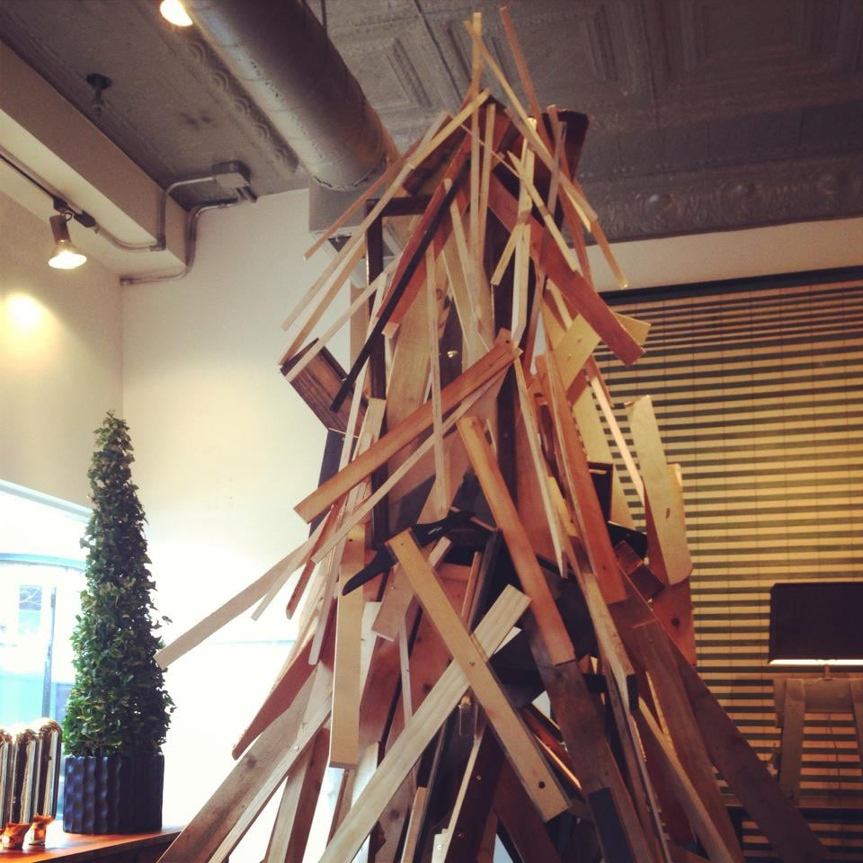 Scout christmas tree made of plywood yelp for Plywood christmas tree