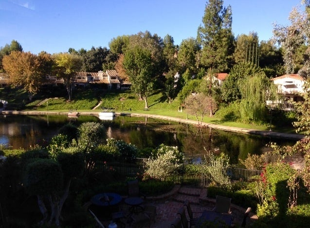 Photo of Lake Calabasas - Calabasas, CA, United States. From my bedroom window. Love the ducks.