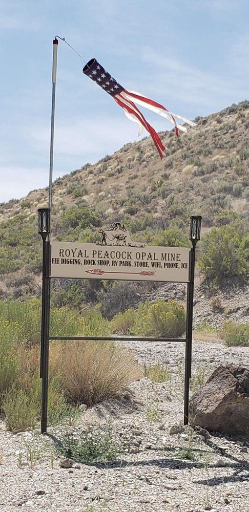 Royal Peacock Opal Mine: Denio, NV