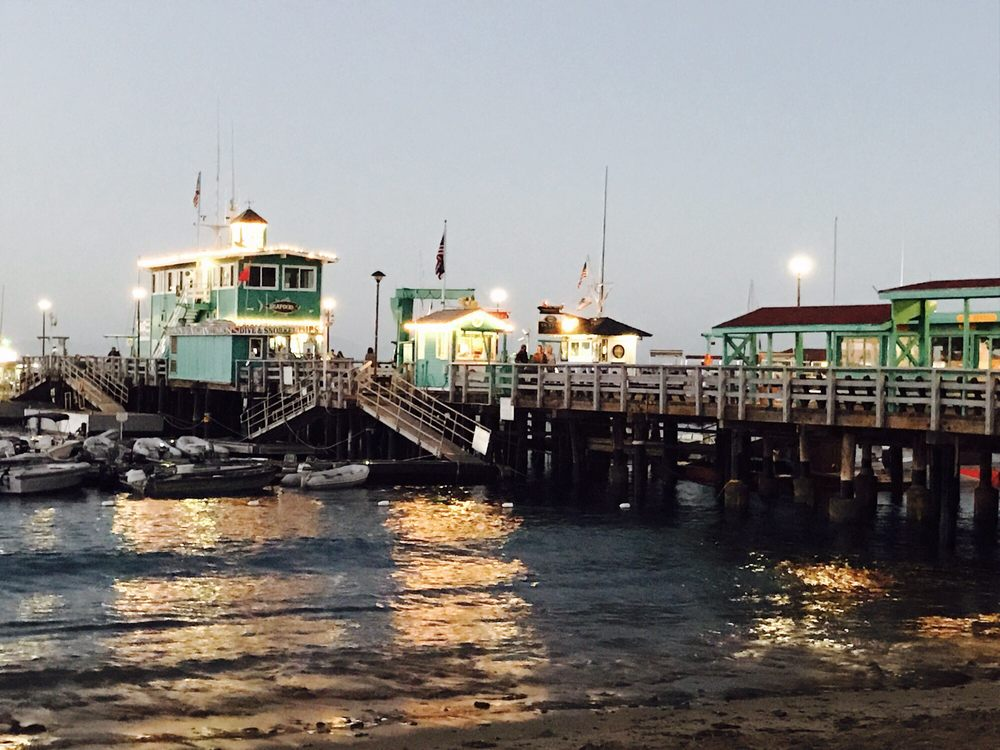 Green Pier: Cresent And Catalina, Avalon, CA