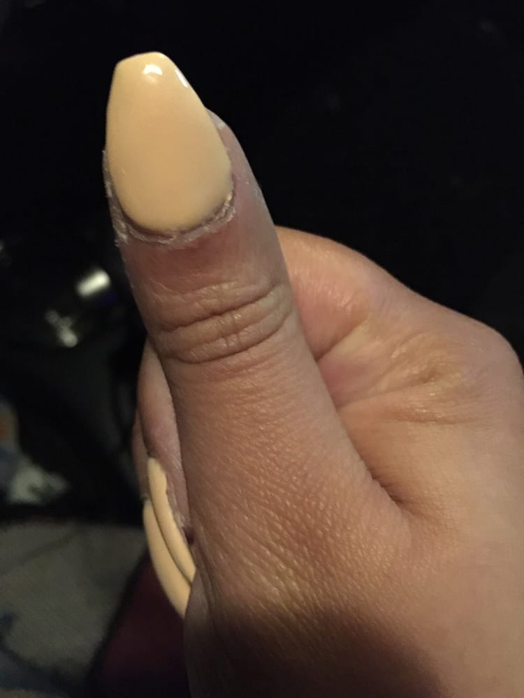Coffin shaped gel nail. - Yelp