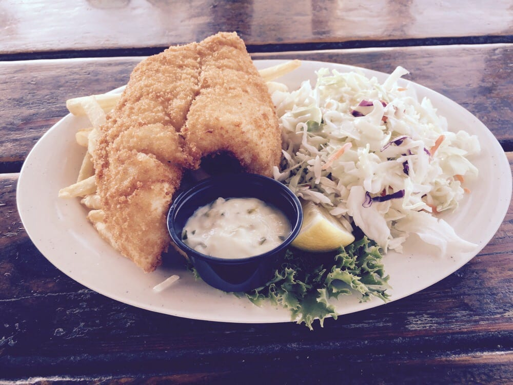 Founder cole slaw fries dinner on the waterway with for Fish market virginia beach