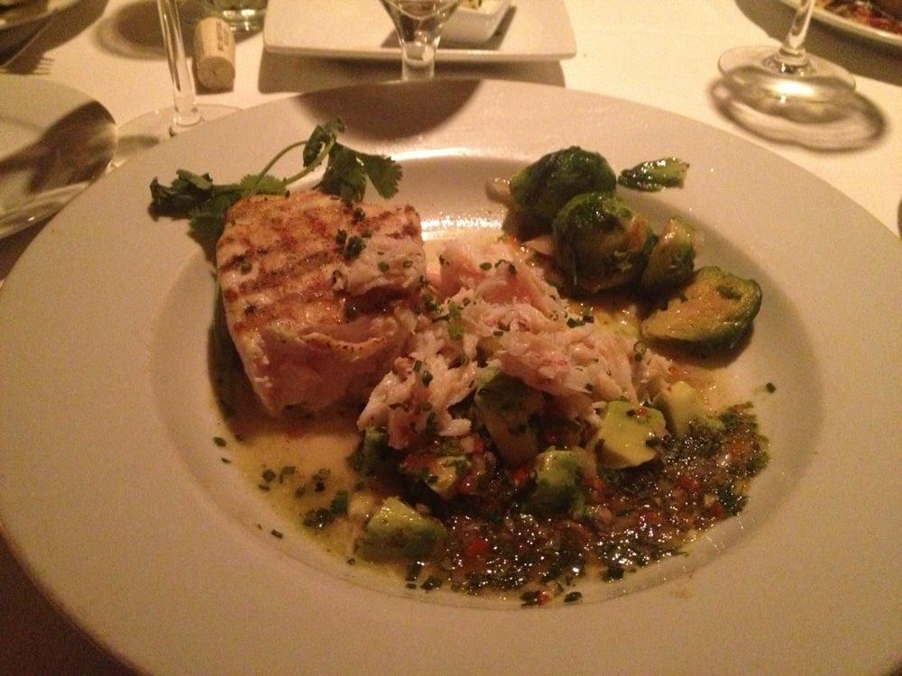 Swordfish with jonah crab meat sliced avocado and asian for Wild fish san antonio