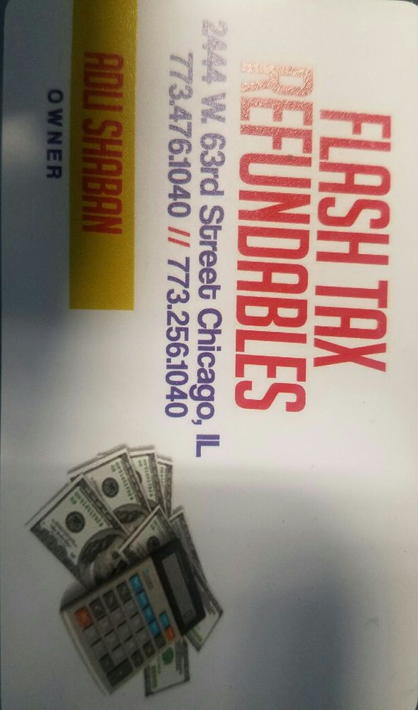 Flash Tax Refundables Tax Services 2444 With 63rd Marquette