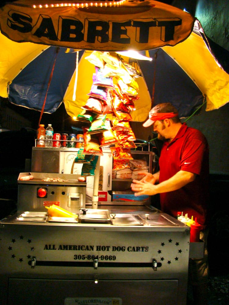 Sabrett All American Hot Dog Cart Hot Dogs Somewhere