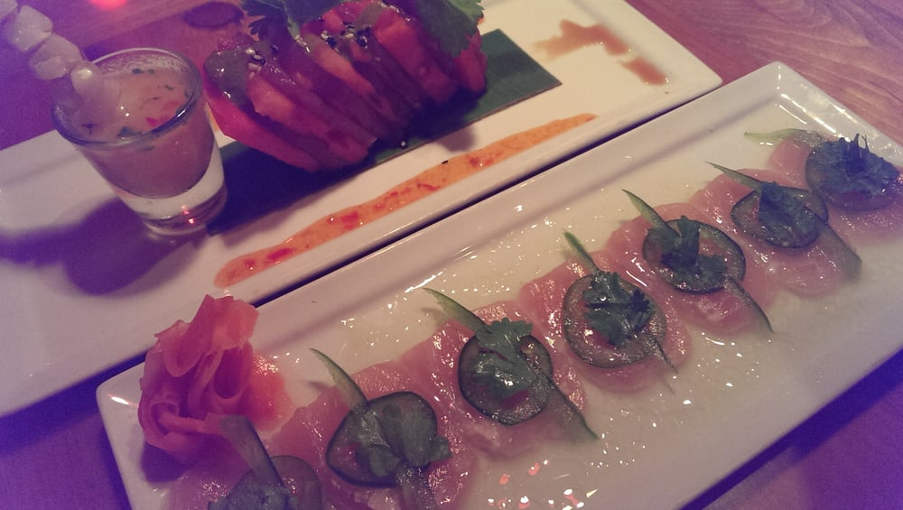 Tuna watermelon tapas marlin sashimi omg i can eat for Can i eat fish everyday