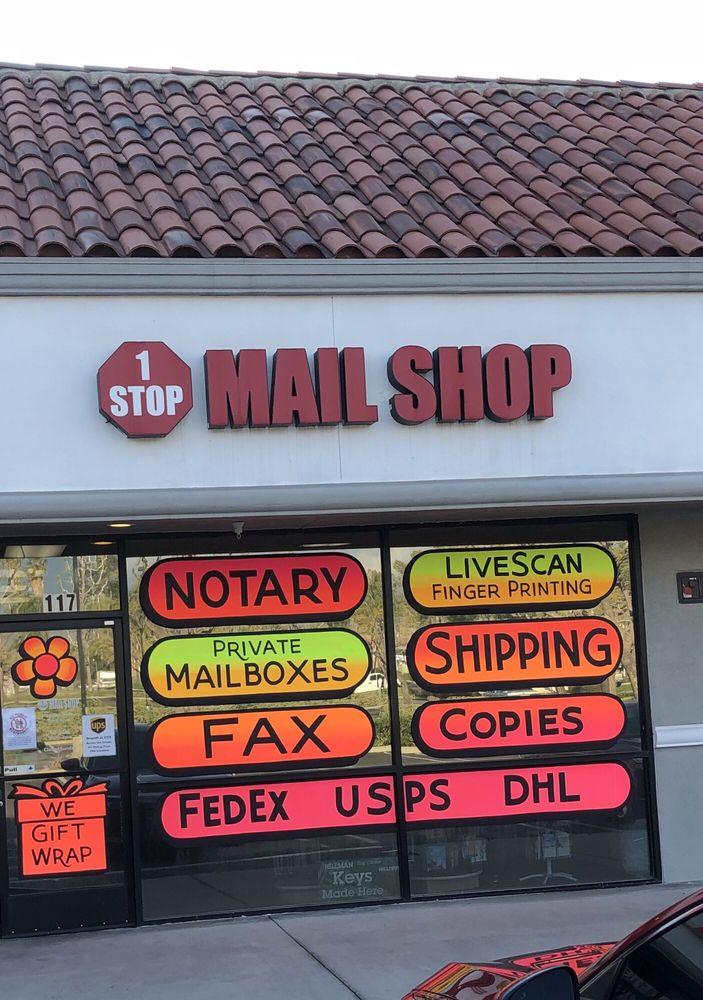 1 Stop Mail Shop: 1752 E Lugonia Ave, Redlands, CA