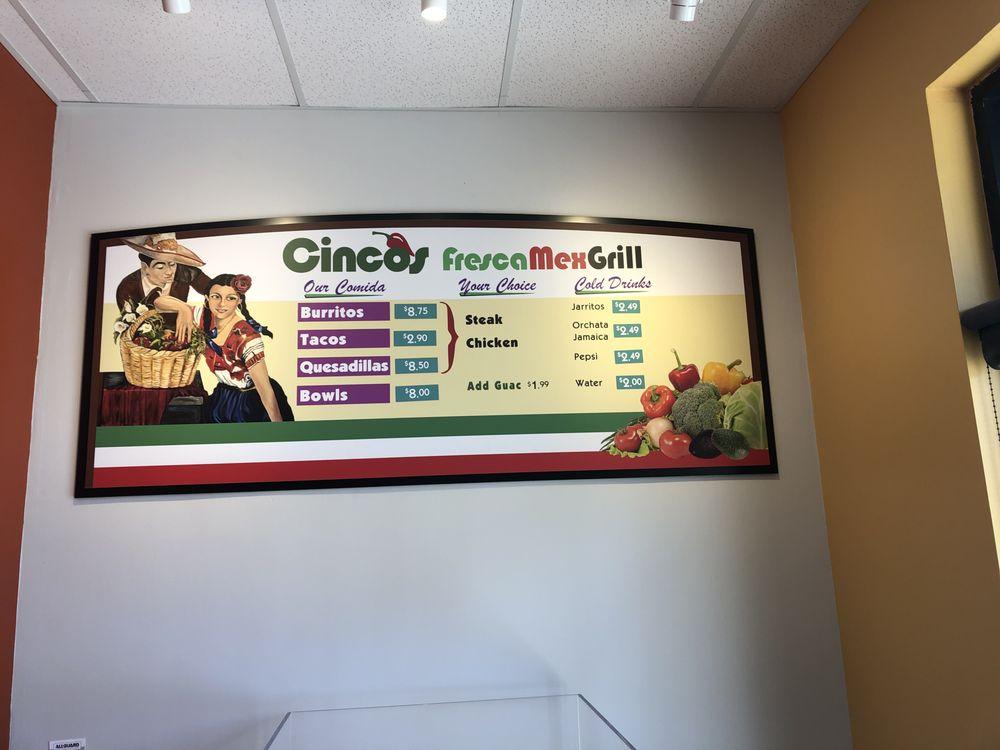 Cinco's Fresca Mex Grill: 5075 Main St, American Canyon, CA