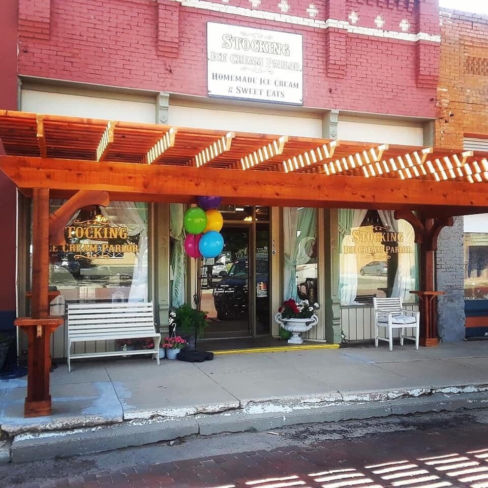 Stocking Ice Cream Parlor: 116 Kearney, Clarendon, TX