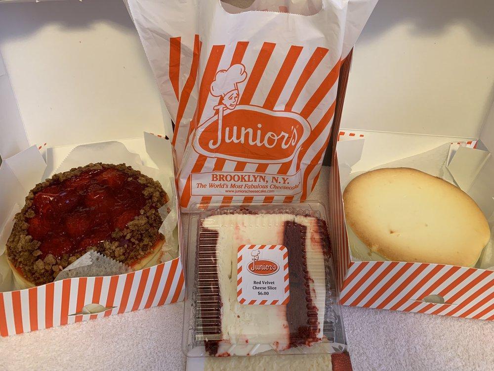 Junior's Cheesecakes: 499 Veterans Dr, Burlington, NJ