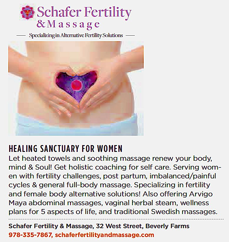 Schafer Fertility Massage Massage 32 West St Beverly Ma