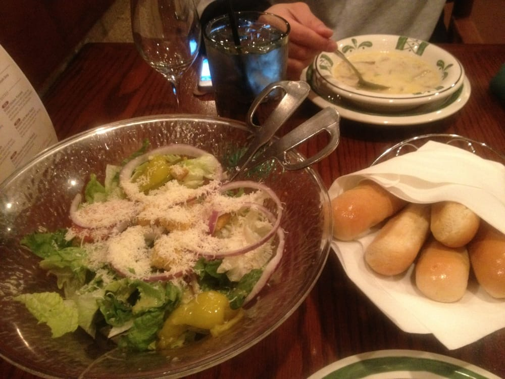 Endless Soup Salad Breadsticks Yelp