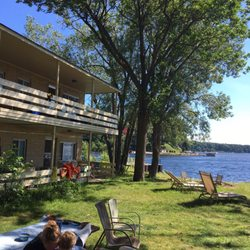Photo Of Hollister S Water Edge Lodge Whitehall Mi United States View From