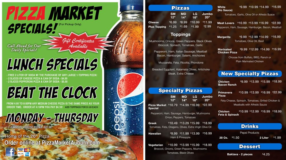 Pizza Market: 190 Lake St, Auburn, ME
