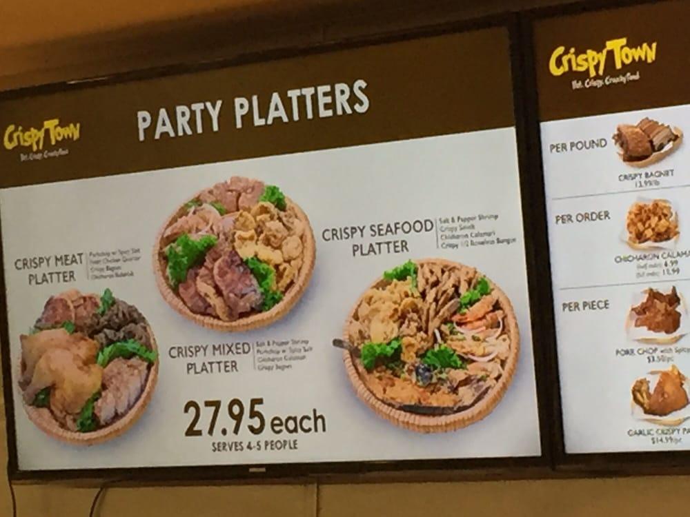 Party Platters Menu at Crispy Town - Yelp