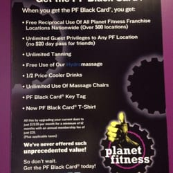 planet fitness black card contract