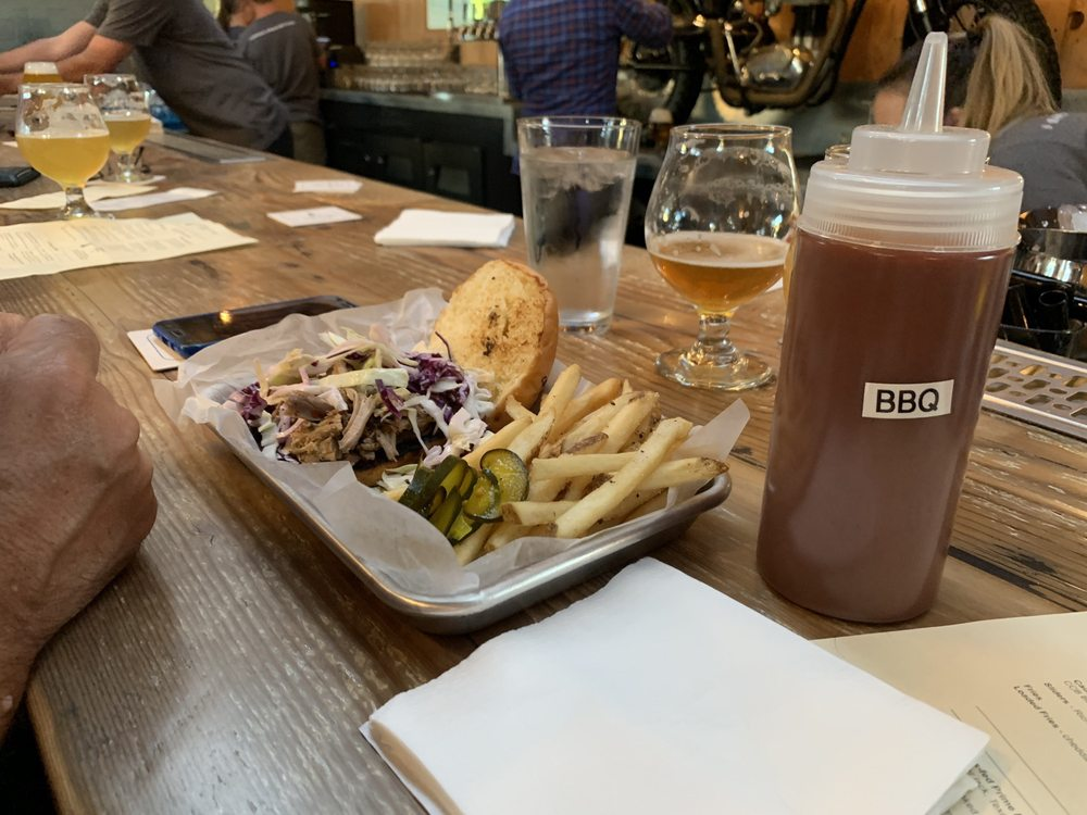 Food from Canyon Club Brewery