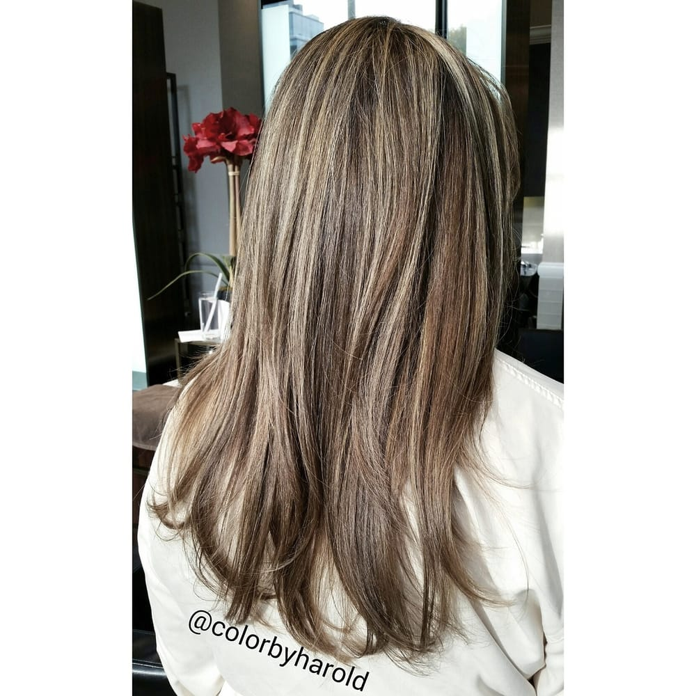 Ash Blonde Subtle Babylights On Light Ash Brown Hair By Nyc Color