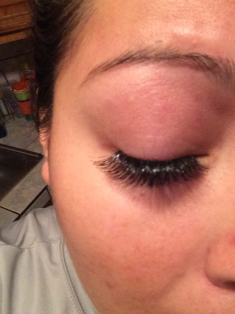 Look How Fake And Cheap This Looks All Shiny Bad Glued Lashes I Got