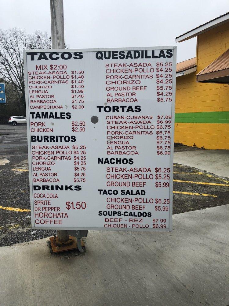 Jessy Tacos Y Tortas: 12383 Us Hwy 431, Guntersville, AL