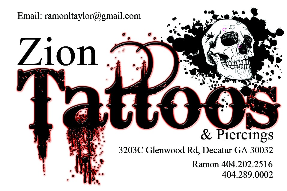 Zion Tattoos: 3203 Glenwood Rd, Decatur, GA