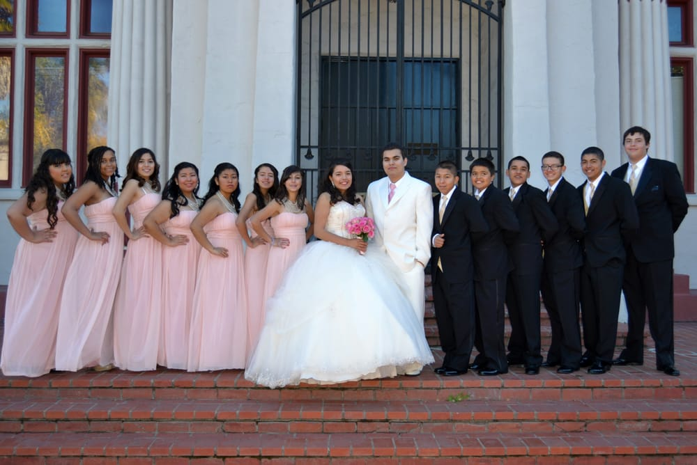 Tuxedos by Tuxedo & Bridal Gallery. Ivory with Blush, and black with ...