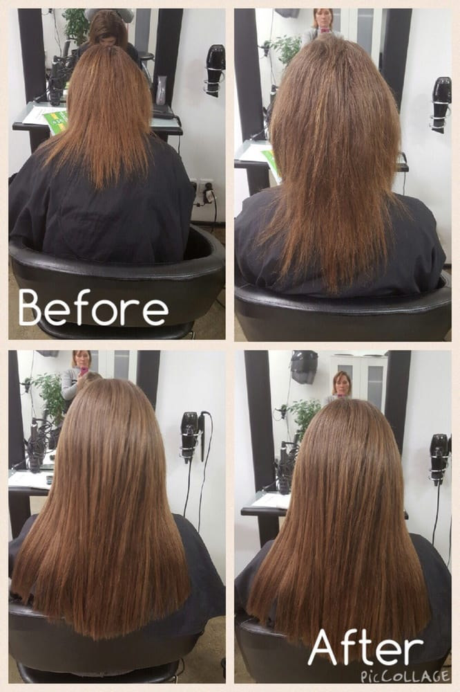 Before And After Pictures Of Micro Weave Weft Extensions Applied