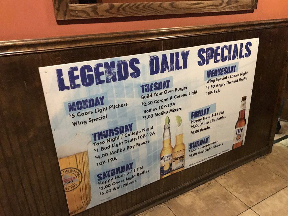 Legends: 2545 N 5th St Hwy, Reading, PA