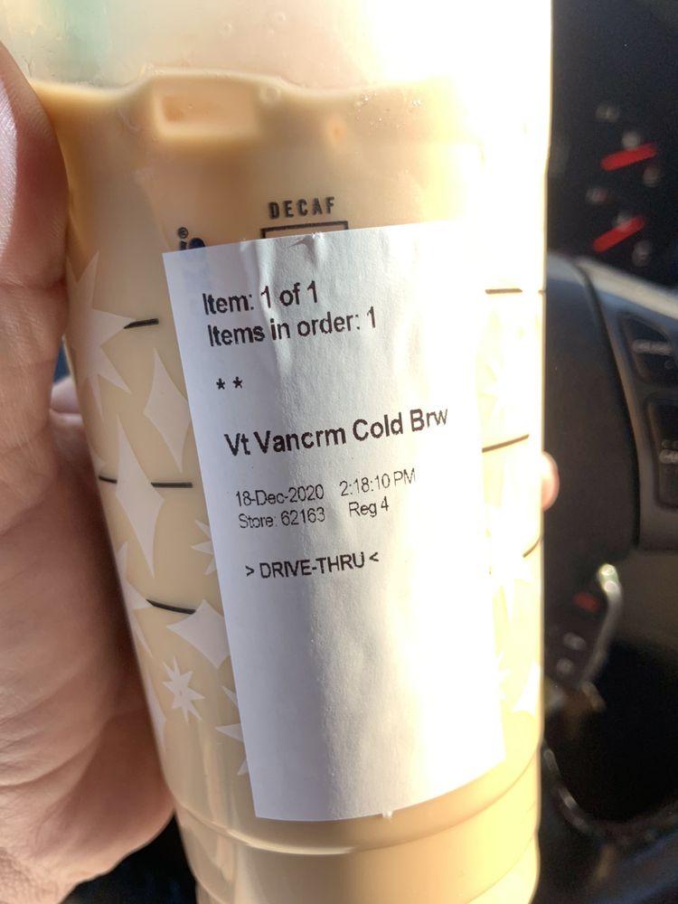 Food from Starbucks