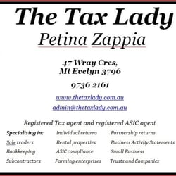The Tax Lady - Request a Quote - Payroll Services - 47 Wray