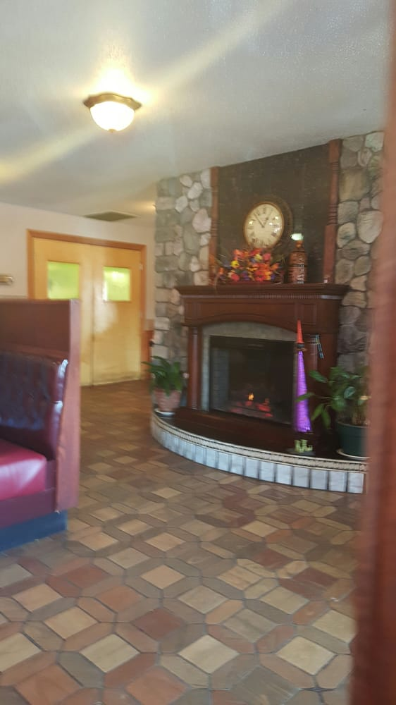 Nice relaxing fireplace sets the mood for dinner  - Yelp